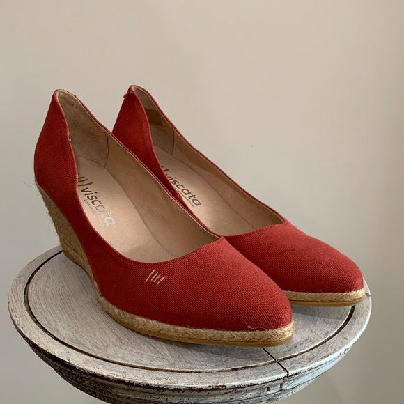 a315a311078 Viscata Shoes | Barcelona Espadrille Canvas Wedges Red 11 | Poshmark